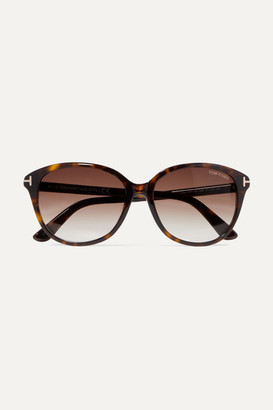 656d1a47d9 Tom Ford Cat-eye Tortoiseshell Acetate Sunglasses - Brown