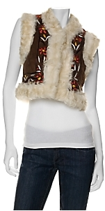 Laurence Heller Curly Lamb Cropped Vest