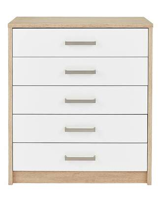 Fashion World Canyon Gloss 5 Drawer Chest