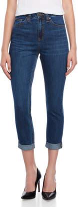 Dickies High-Waisted Cuffed Straight Leg Jeans