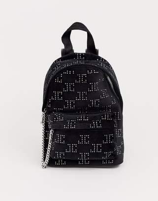 Juicy Couture Juicy Black Label delta mini backpack in black velvet