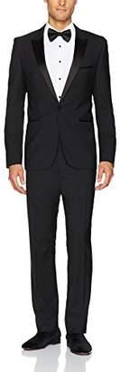 HUGO BOSS Hugo Men's Solid Contemporary Slim Fit Tuxedo