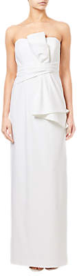 Adrianna Papell Knitted Crepe Gown, Ivory