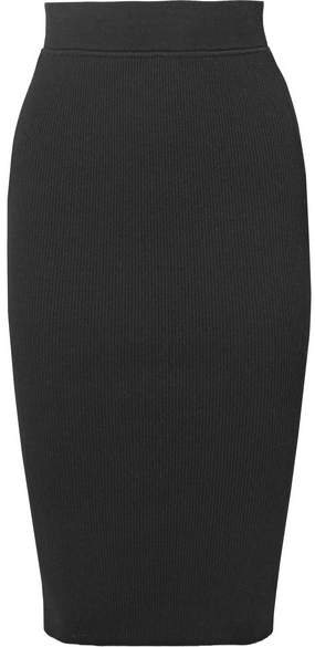 Michael Kors Collection - Ribbed Stretch-knit Pencil Skirt - Black