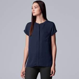 Vera Wang Women's Simply Vera Essential Textured Popover Top