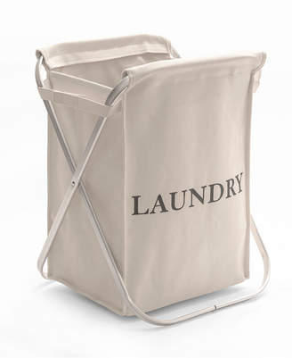 Seville Classics Aluminum X Frame Folding Laundry Hamper with Removable Canvas Bin