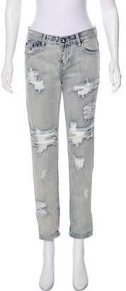 One Teaspoon Distressed Mid-Rise Jeans