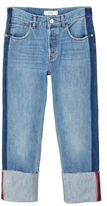 MANGO Turn-up hem straight jeans