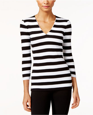 INC International Concepts Striped Rib-Knit Top, Only at Macy's $49.50 thestylecure.com