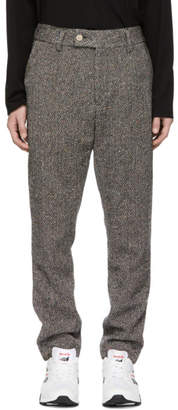 Leon Aime Dore Grey Wool Tweed Donegal Trousers