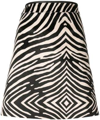 Paul Smith zebra printed mini skirt