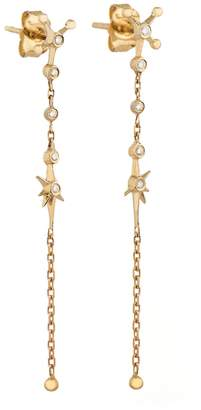 Celine Daoust Diamond Constellation Chain Drop Earrings