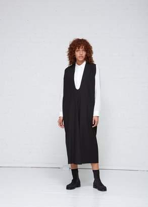 Y's by Yohji Yamamoto Long V-Neck Dress