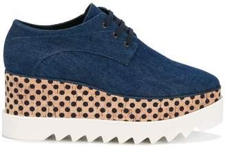 Stella McCartney denim Elyse flatform shoes