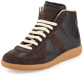 Maison Margiela Men's Replica Mid-Top Leather & Suede Sneakers