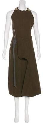 Victoria Beckham Virgin Wool Midi Dress