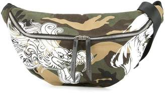 Ports V camouflage print waist bag