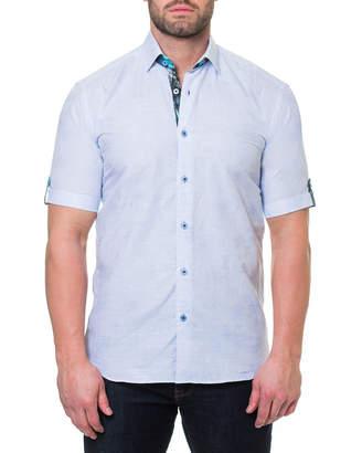 Maceoo Men's Shaped-Fit Fresh Palm Short-Sleeve Sport Shirt