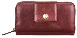 Maxwell Scott Bags Large Italian Leather Zip Around Purse