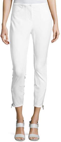 3.1 Phillip Lim Jodhpur Ankle-Zip Leggings, Antique White