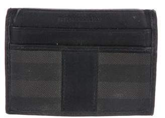 Burberry Leather & Coated canvas Card Holder