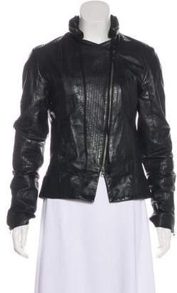 Improvd Hooded Leather Jacket