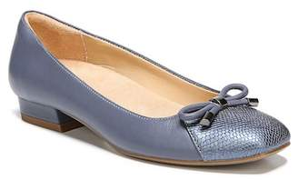 Naturalizer Gertie Snake Embossed Leather Flat - Wide Width Available