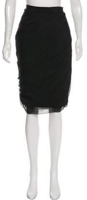 Giambattista Valli Silk Knee-Length Skirt Black Silk Knee-Length Skirt