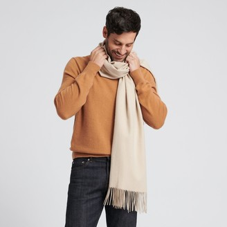 Naadam Cashmere Solid Scarf Oatmeal