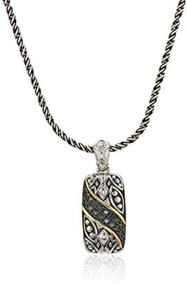 Effy Womens 925 Sterling Silver/18K Yellow Gold Diamond Pendant Necklace