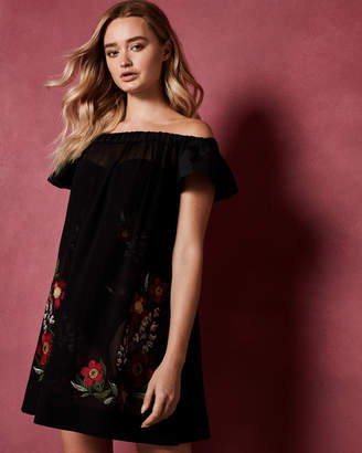 Ted Baker DELMESO Embroidered bardot cover up