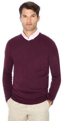 The Collection - Big And Tall Plum V-Neck Jumper