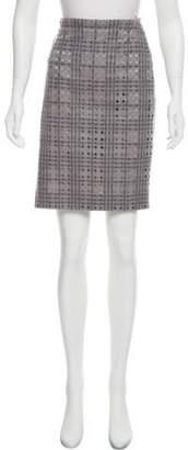 Akris Wool Cutout Skirt