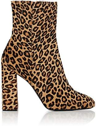 Barneys New York WOMEN'S LEOPARD CALF HAIR ANKLE BOOTS SIZE 5