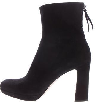 Miu MiuMiu Miu Suede Round-Toe Ankle Boots