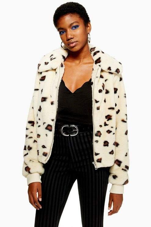 Animal Faux Fur Jacket