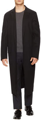 Jil Sander Intelati Wool Flap Pocket Top Coat