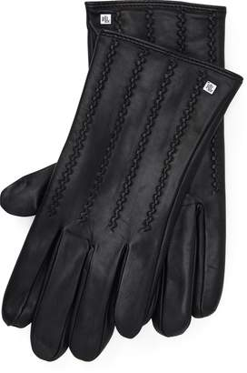 Ralph Lauren Stitched Leather Tech Gloves