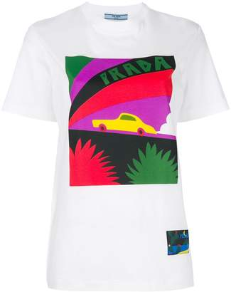 Cheap Sale Good Selling Prada Banana T-shirt Cheap Sale With Paypal Outlet Genuine Stockist Online 2018 New Sale Online 2xg72YP