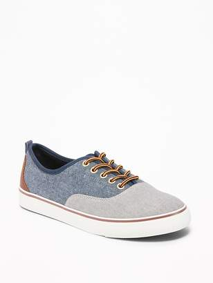 Old Navy Color-Blocked Chambray Lace-Up Sneakers for Boys