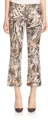 Faith Connexion Glitter Printed Cropped Pants