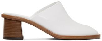 The Row White Teatime Clog Mule Heels