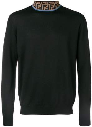 Fendi logo neck jumper