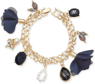 INC International Concepts I.N.C. Gold-Tone Multi-Charm Link Bracelet, Created for Macy's