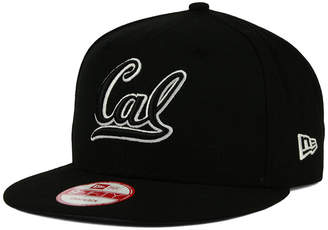 New Era California Golden Bears Black White Fashion 9FIFTY Snapback Cap