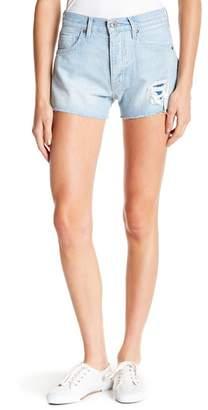 Levi's LMC Distressed & Frayed Denim Shorts
