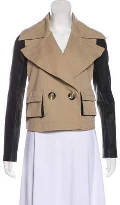 Rachel Zoe Leather-Paneled Casual Jacket