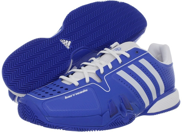 adidas adipower barricade 7.0 - Clay (Prime Blue/Running White) - Footwear