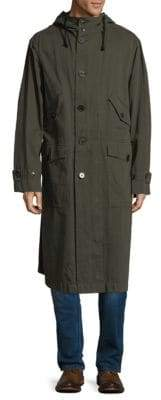 Dries Van Noten Long Cotton Parka