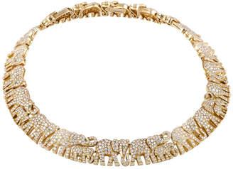 Cartier Heritage  18K Diamond & Emerald Necklace